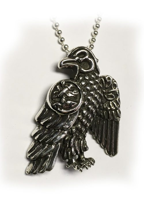 Tigrani New Sterling Silver With Letters Eagle Fase Pendant for Dashnaks