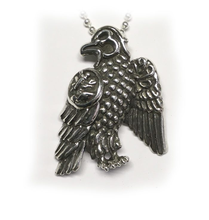 Tigrani New Sterling Silver With Letters Eagle Fase Pendant for Dashnaks 2