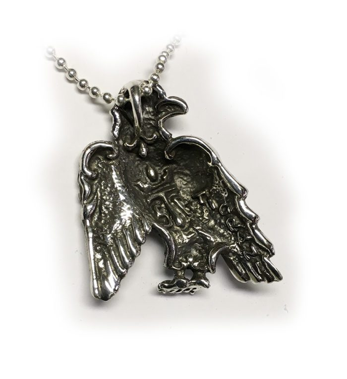 Tigrani New Sterling Silver With Letters Eagle Fase Pendant for Dashnaks 3