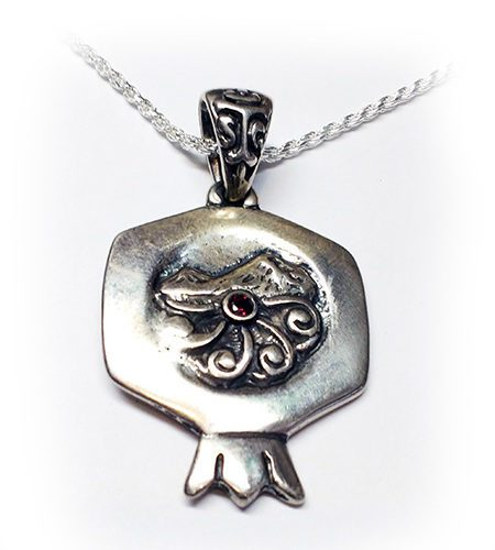Pomegranate Ararat Mountain Silver pendant