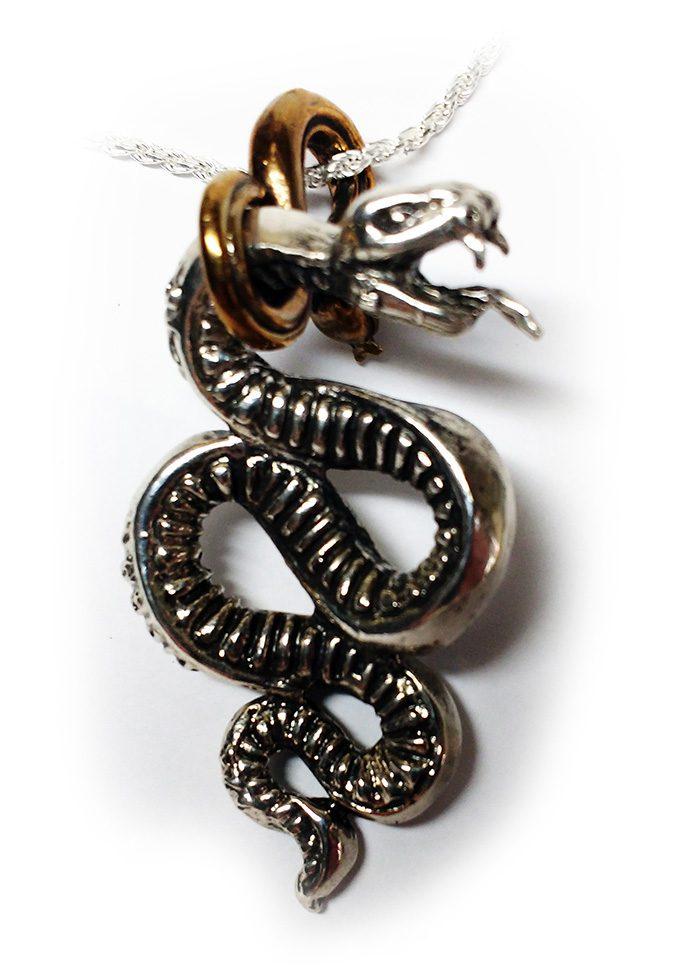 Snake Gyurza Silver Pendant 3