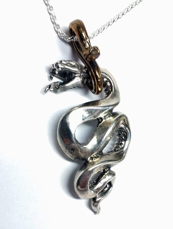 Snake Gyurza Silver Pendant 5