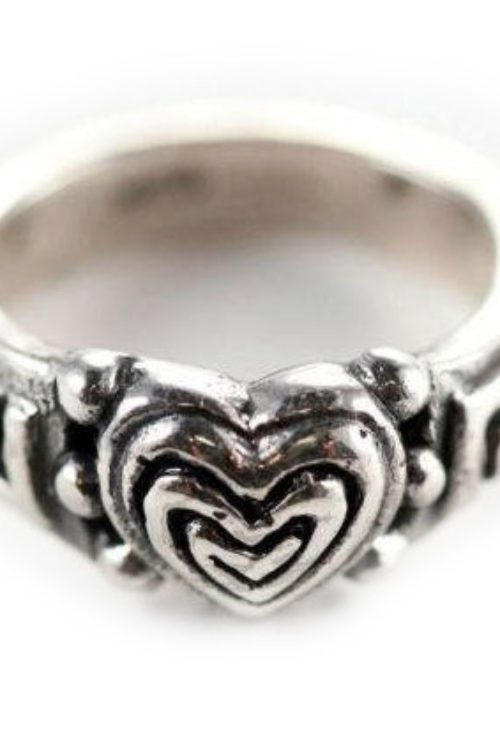 Heart Patterns Style Sterling Silver Ring