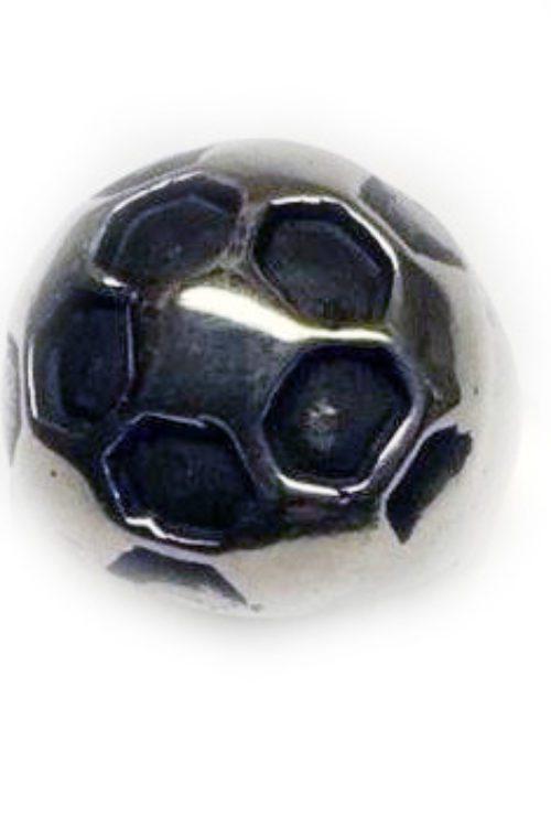 Soccer Ball Sterling Silver Ring