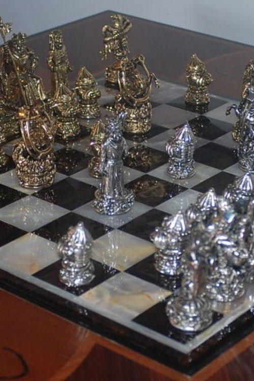 "Tigrani ""Ed Hardy"" Sterling Silver Chess Set"