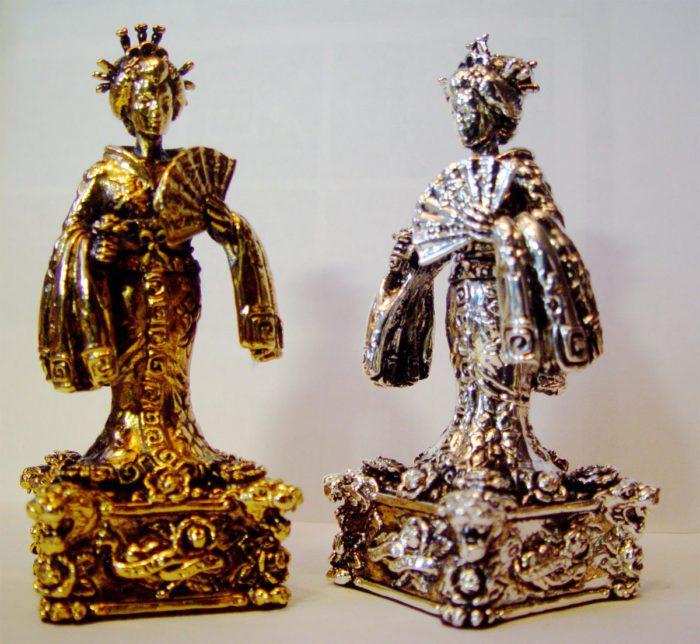 "Tigrani ""Ed Hardy"" Sterling Silver Chess Set 5"