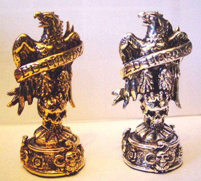 "Tigrani ""Ed Hardy"" Sterling Silver Chess Set 4"
