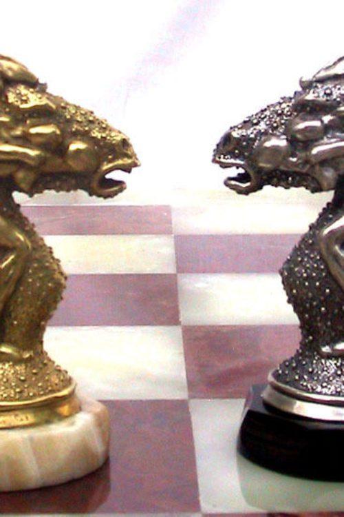 Tigrani Classic Erotic Sterling Silver Chess Set