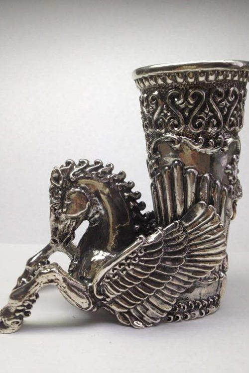 Sterling Silver Horse Cup