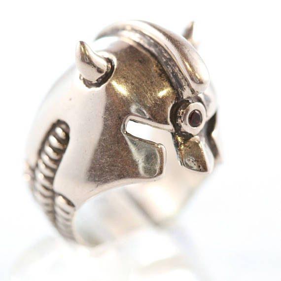 Sterling Silver Helmet Ring 2
