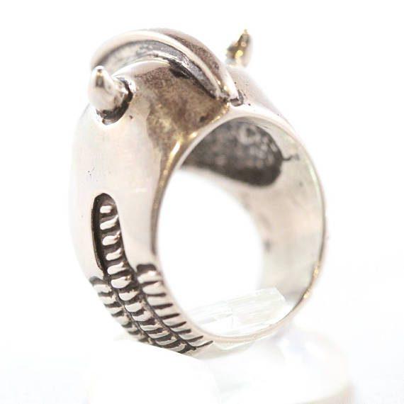 Sterling Silver Helmet Ring 4