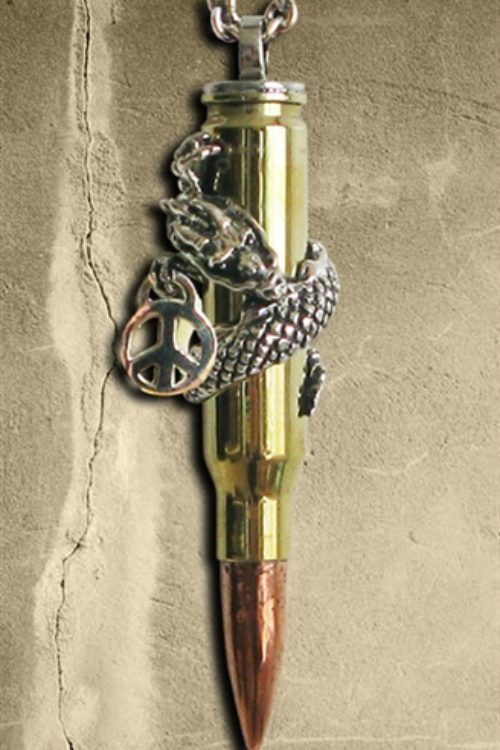 Peaceful Dragon – Bullets 4 Peace Pendant