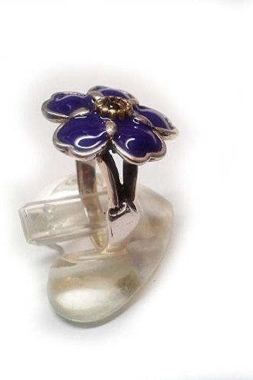 Anmoruk Flower Sterling Silver Ring