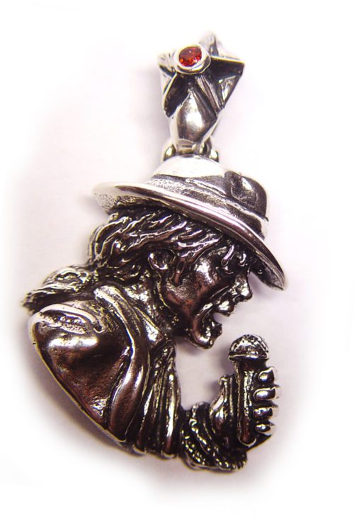 King Of Pop Sterling Silver Pendant