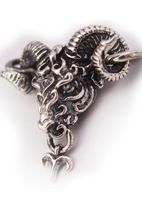 "Aries ""March 21 – April 19"" Silver Pendant"