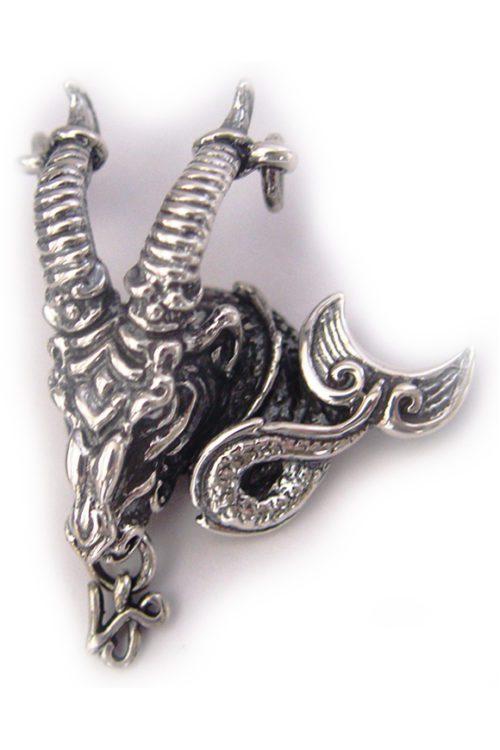 "Capricorn ""December 22 – January 19"" Silver Pendant"