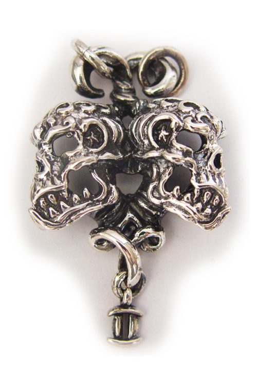 "Gemini ""May 21 – June 20"" Silver Pendant"