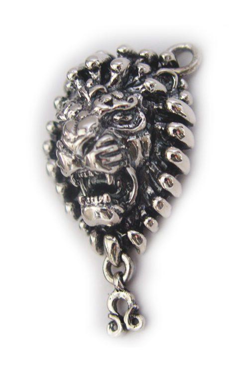 "Leo ""July 23 – August 22"" Silver Pendant"