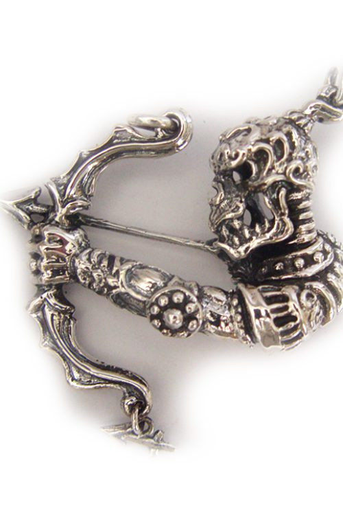 "Sagittarius ""November 22 – December 21"" Silver Pendant"