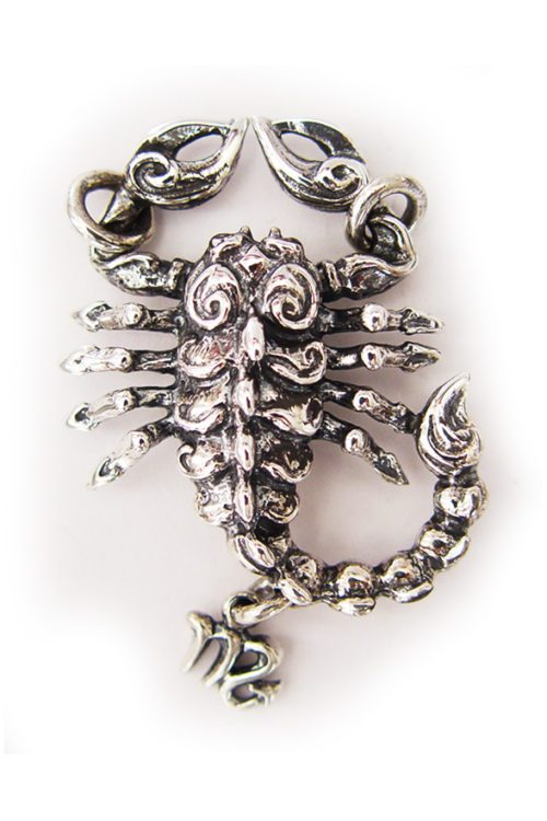 "Scorpio ""October 23 – November 21"" Silver Pendant"