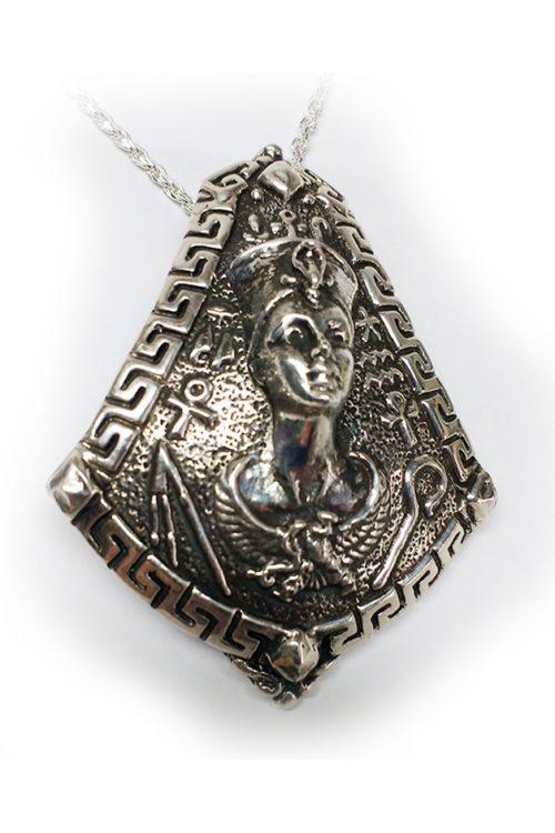 Cleopatra Silver Pendant
