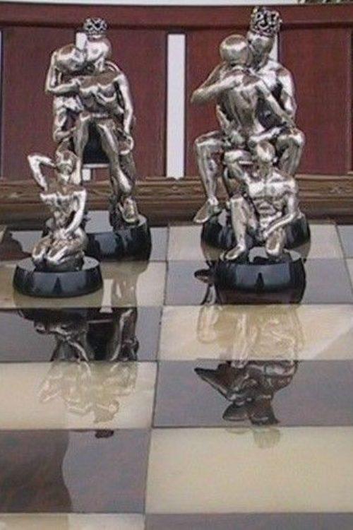 Tigrani Modern Erotic Sterling Silver Chess Set