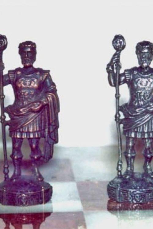 Caesar Power Pewter Chess Set
