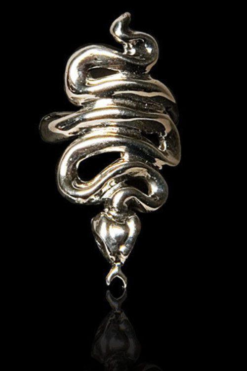Small Snake Silver .925 Finger-Tip Ring