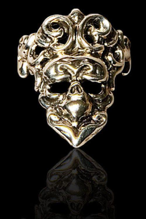 Small Skull Silver .925 Finger-Tip Ring