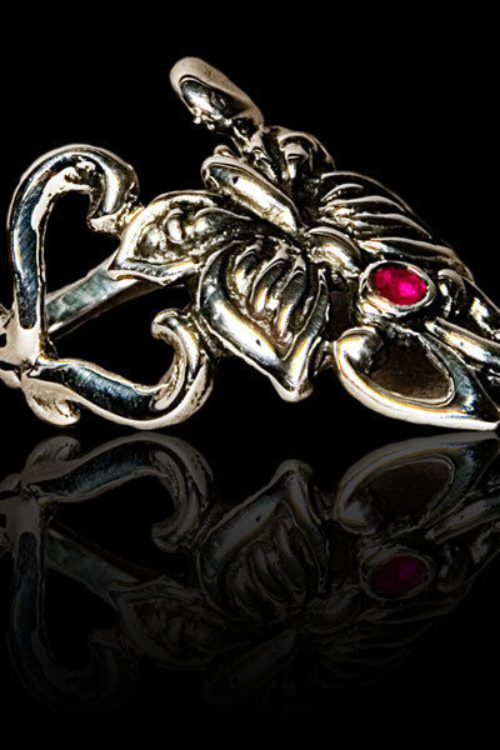 Small Butterfly Silver .925 Finger-Tip Ring