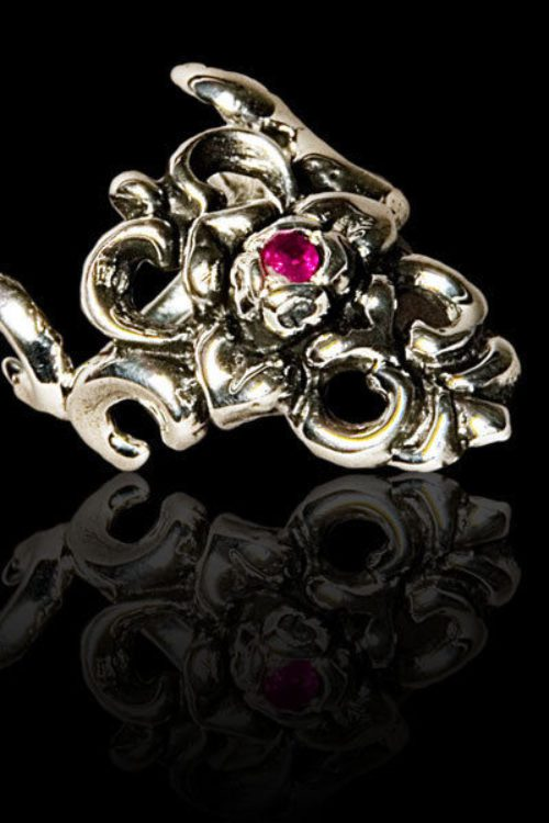 Small Rose Silver .925 Finger-Tip Ring