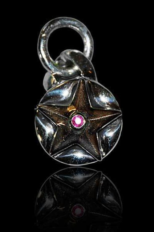 Small Combo Star Pendant With Ruby