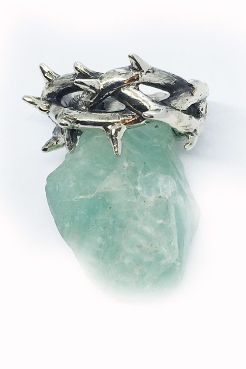 Crown of Thorns Silver Ring V2
