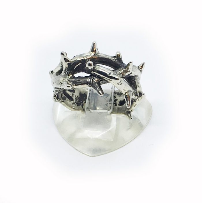 Crown of Thorns Silver Ring V2 3