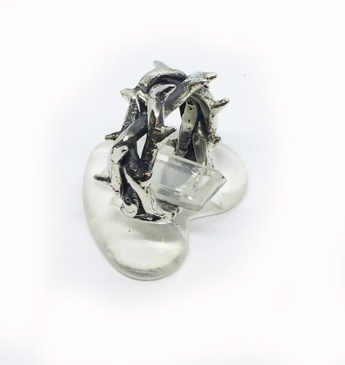 Crown of Thorns Silver Ring V1 3