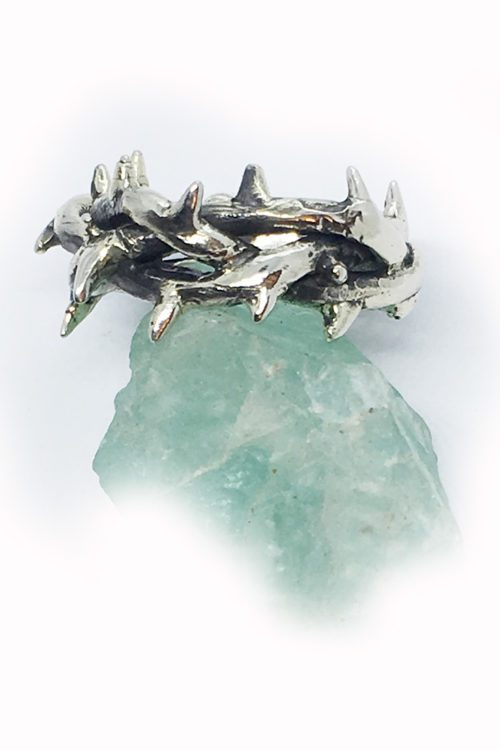 Crown of Thorns Silver Ring V1