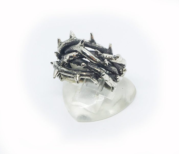 Crown of Thorns Silver Ring V3 2