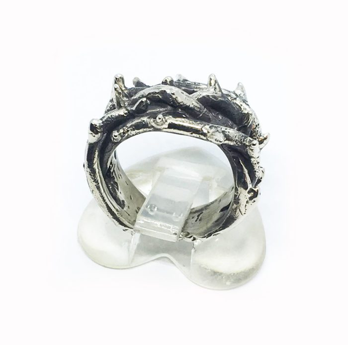Crown of Thorns Silver Ring V3 3