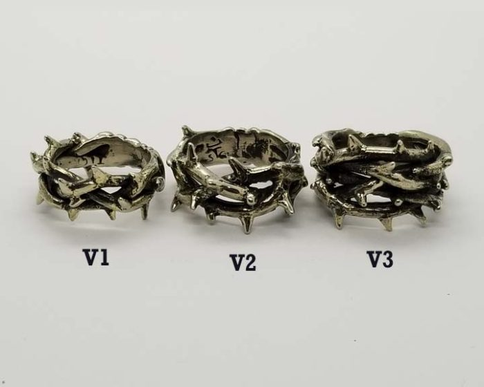 Crown of Thorns Silver Ring Collection