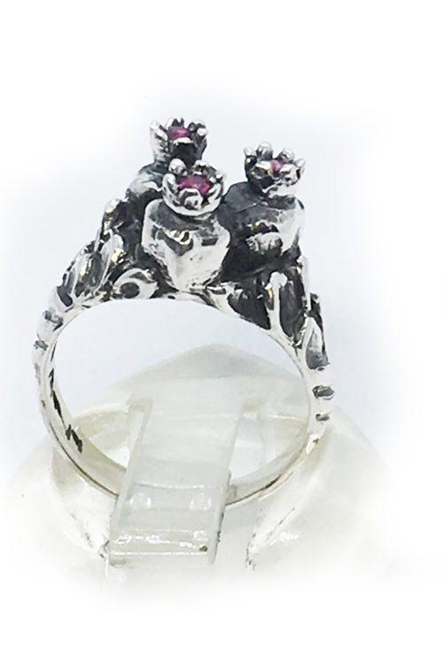 3 Pomegranate Sterling Silver Ring v4
