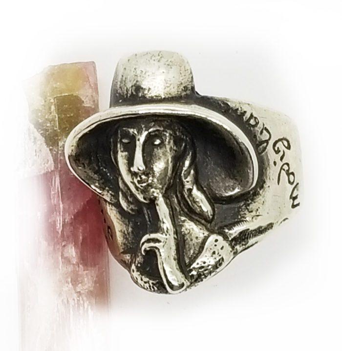 Amedeo Modigliani Silver Ring 2