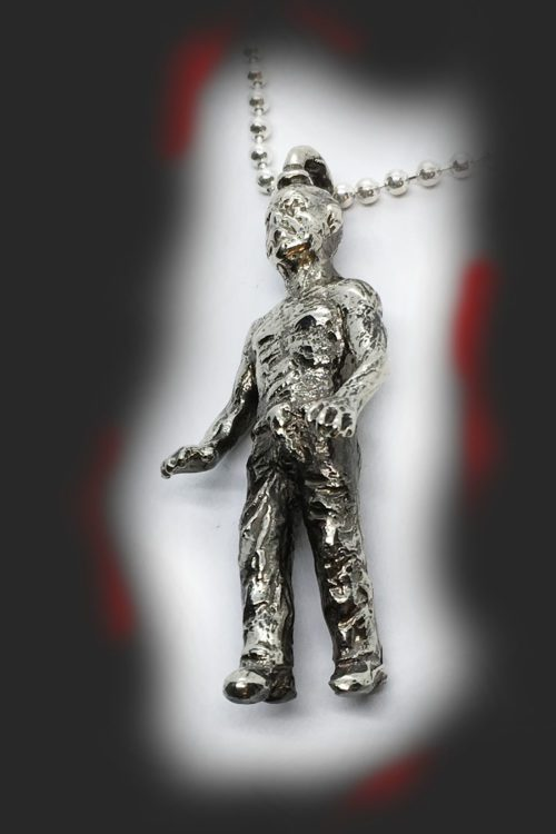 Halloween Zombie Sterling Silver Pendant