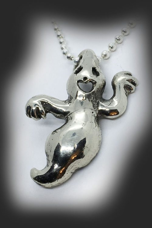 Big Ghost Sterling Silver Pendant
