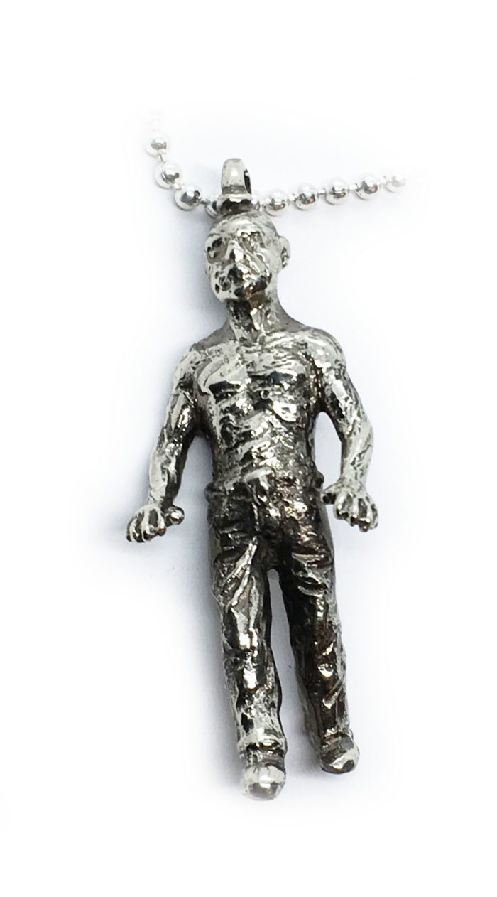 Halloween Zombie Sterling Silver Pendant 2