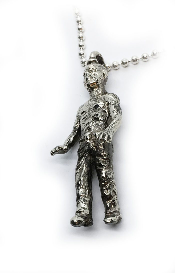 Halloween Zombie Sterling Silver Pendant 4