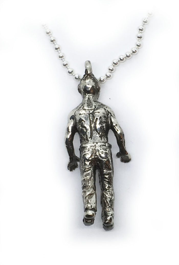 Halloween Zombie Sterling Silver Pendant 3