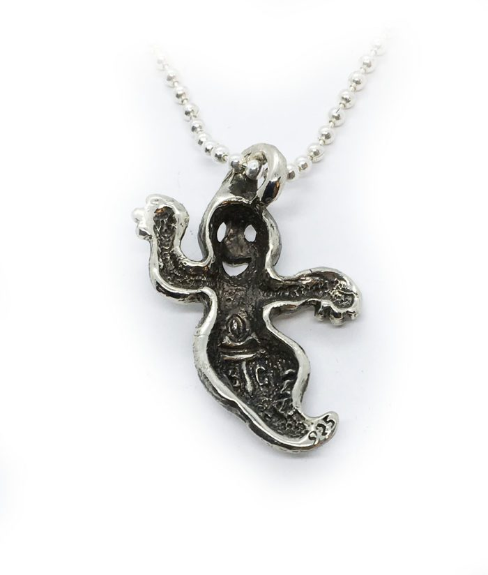 Big Ghost Sterling Silver Pendant 3