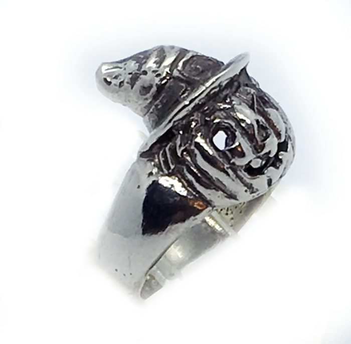 Halloween Witch Pumpkin Silver Ring 2