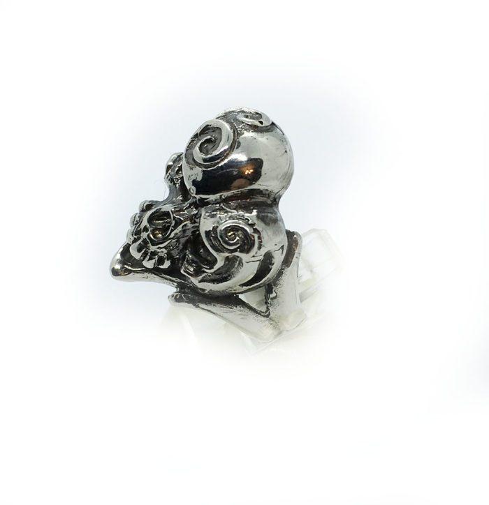 Jokers Love Skull Sterling Silver Ring 2