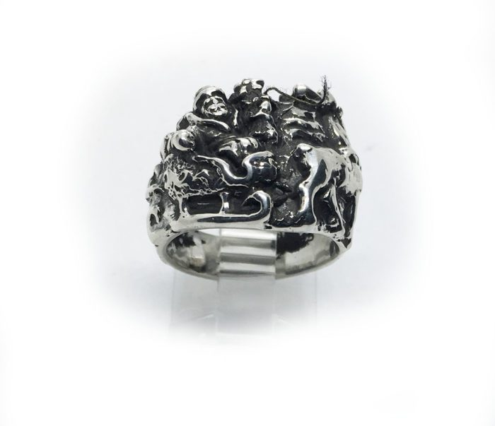 Christmas Sterling Silver Ring 2